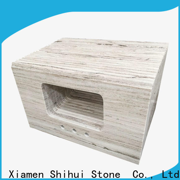 Shihui brown stone tile countertops factory price for kitchen