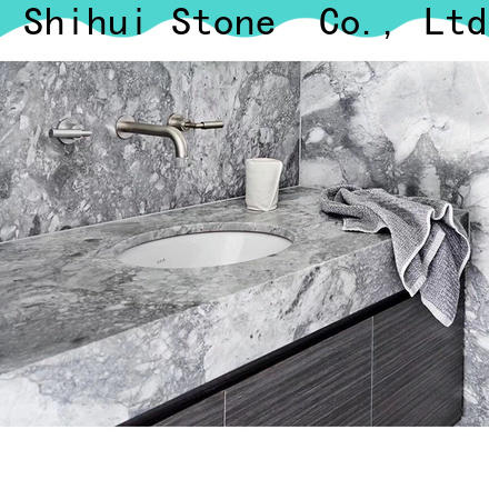 Shihui black stone tile countertops personalized for hotel