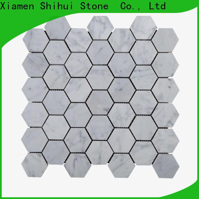 Shihui oriental stone mosaic tile backsplash manufacturer for bathroom