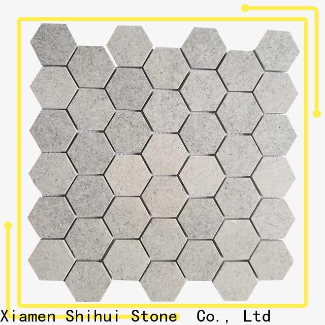 Shihui quality stone mosaic tile backsplash customized for toilet