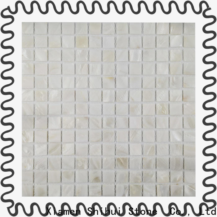 Shihui grey natural stone mosaic tiles from China for bathroom