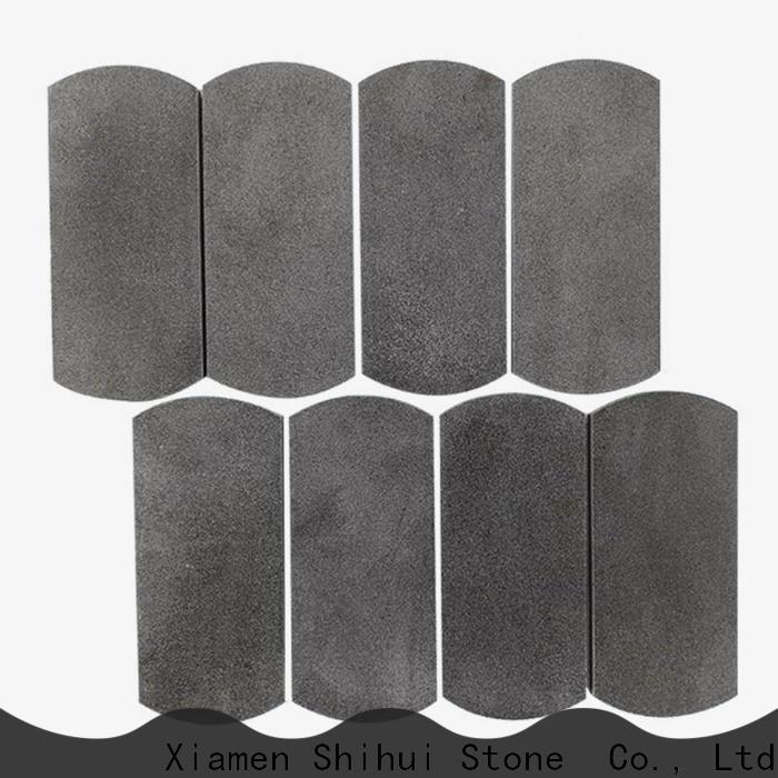 Shihui basalt natural stone mosaic customized for bathroom