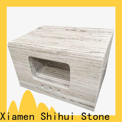 brown cultured stone countertop factory price for hotel