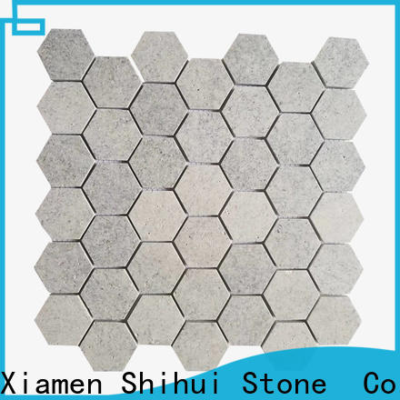 Shihui quality natural stone mosaic tiles customized for toilet