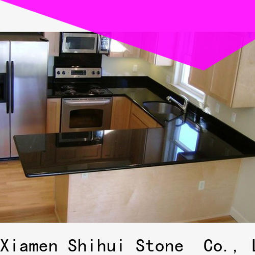 Shihui black top stone countertops factory price for kitchen
