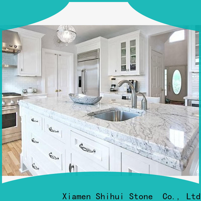 Shihui black solid stone countertops personalized for hotel