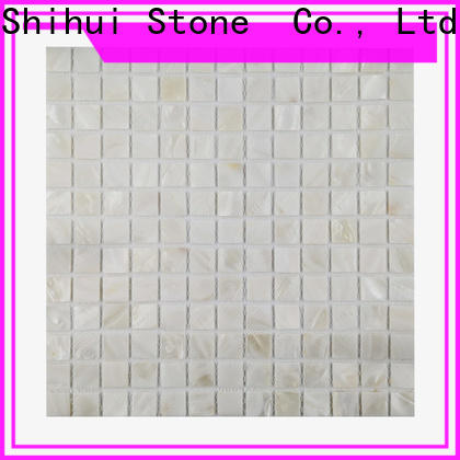 Shihui ivory natural stone tile mosaic customized for bathroom