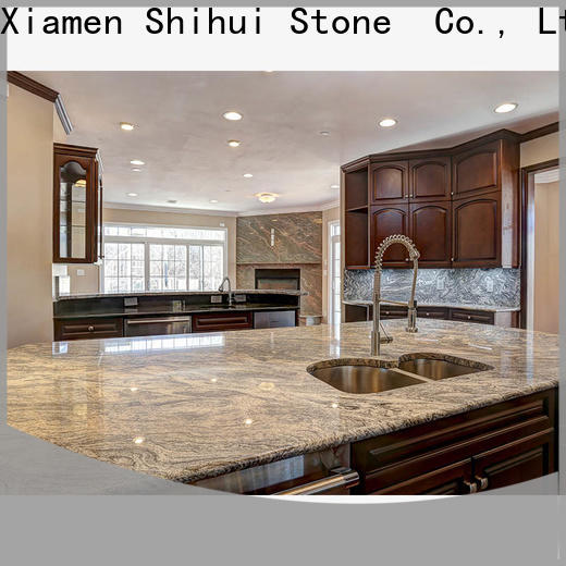 Shihui brown manmade stone countertops factory price for hotel