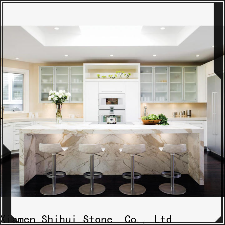 brown manufactured stone countertops supplier for bar