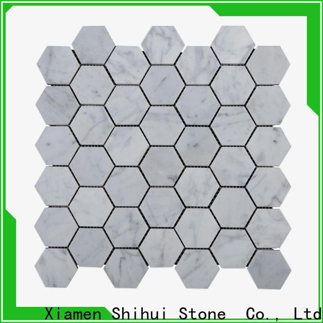 Shihui square stone mosaic tile backsplash series for indoor