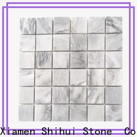 Shihui square stone mosaic backsplash directly sale for toilet