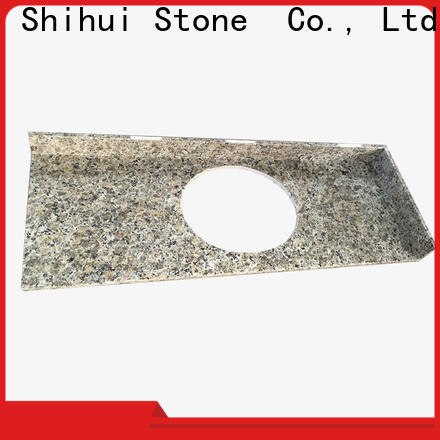 brown manmade stone countertops factory price for hotel