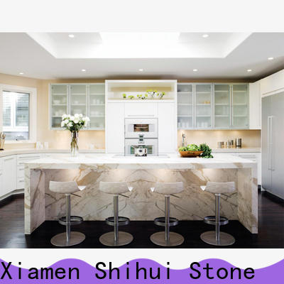 Shihui calacatta manufactured stone countertops factory price for bar