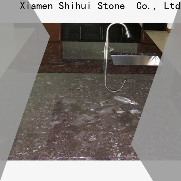 professional stone slab countertop personalized for hotel