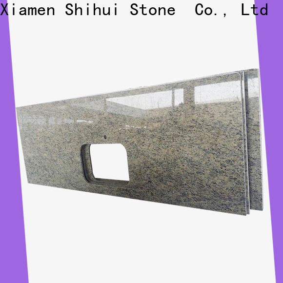 sturdy stone slab countertop personalized for bathroom