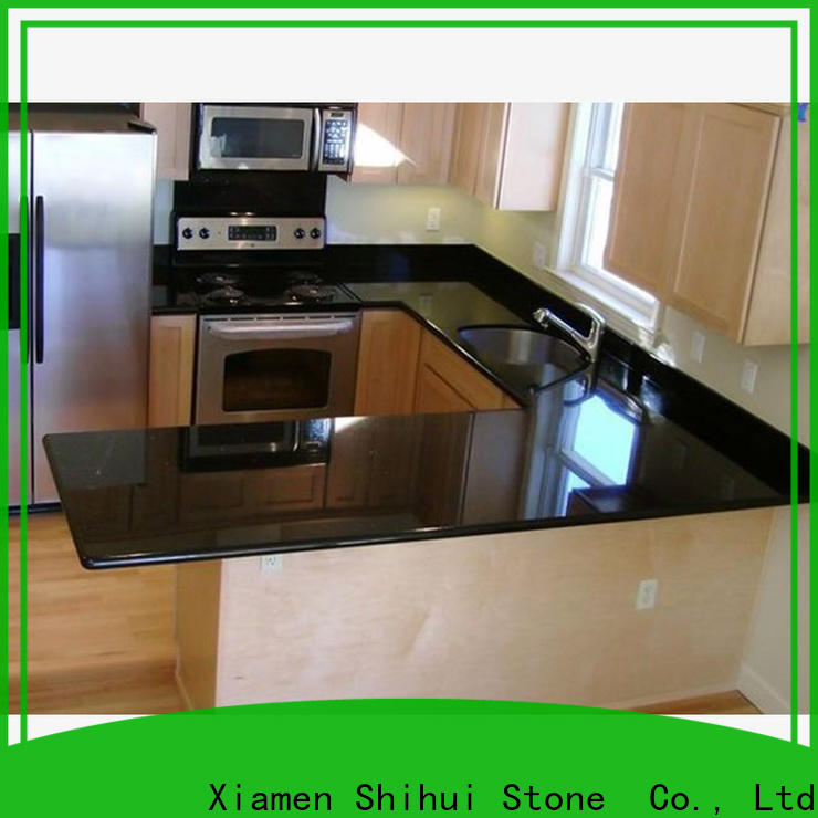 brown best stone kitchen countertops factory price for bathroom