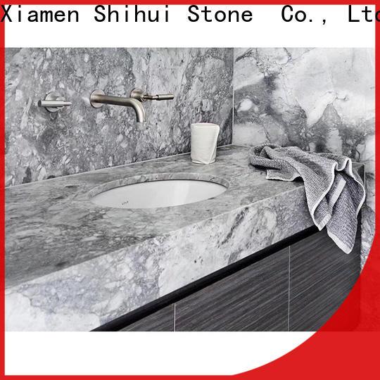 Shihui calacatta manmade stone countertops personalized for bathroom
