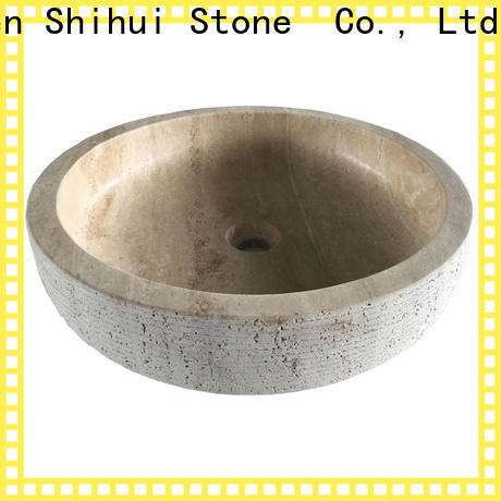 certificated natural stone wash basin factory price for bathroom