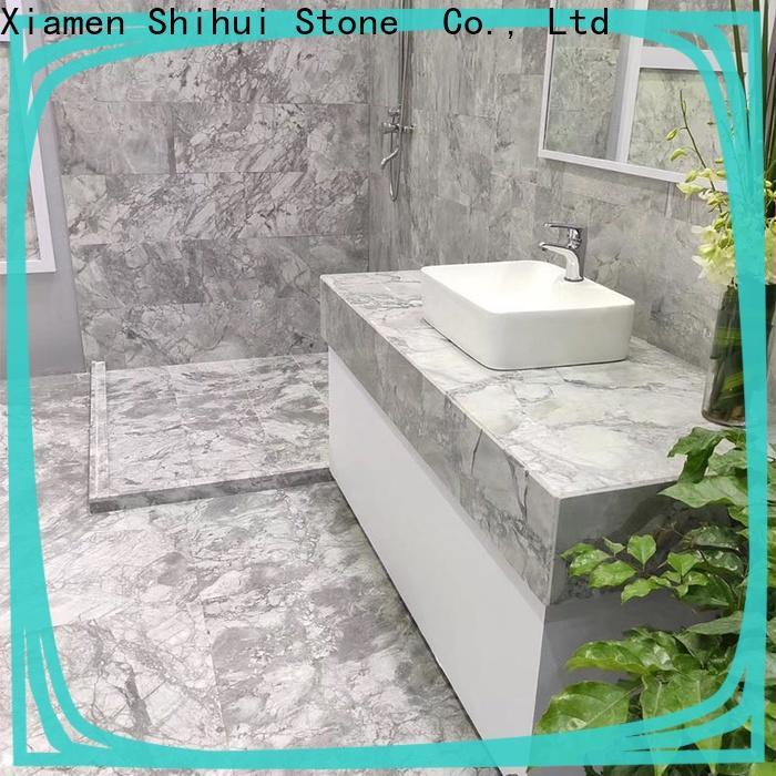 elegant natural stone marble tile factory for toilet