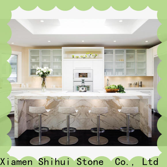 brown manufactured stone countertops personalized for hotel