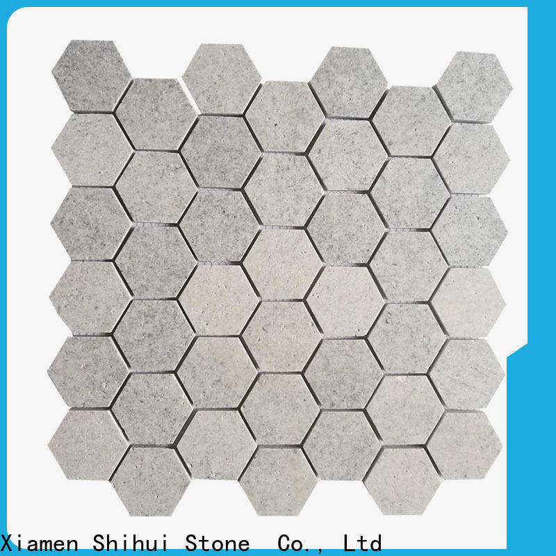 Shihui basalt natural stone mosaic tiles customized for household