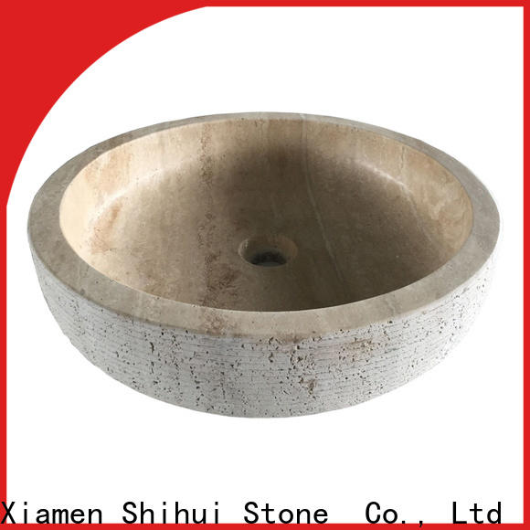 Shihui sturdy natural stone sink factory price for kitchen