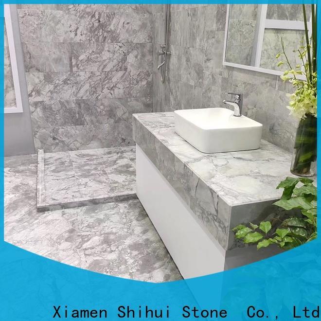 Shihui excellent natural marble tile design for indoor