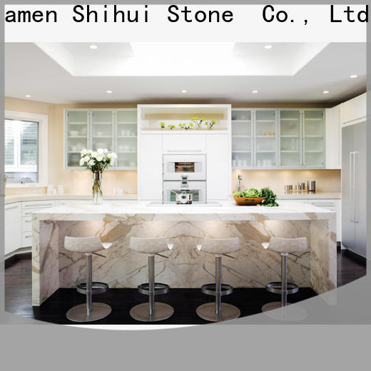 artificial cultured stone countertop personalized for kitchen