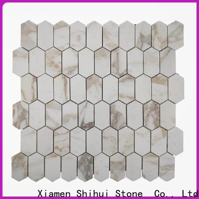 Shihui ivory stone mosaic backsplash manufacturer for bathroom