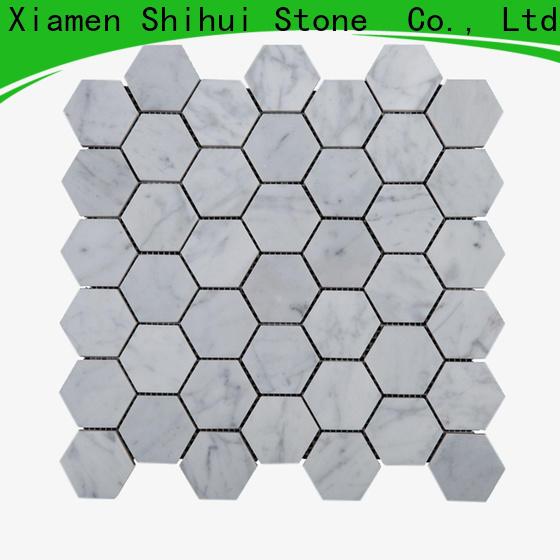 oriental stone mosaic backsplash customized for bathroom