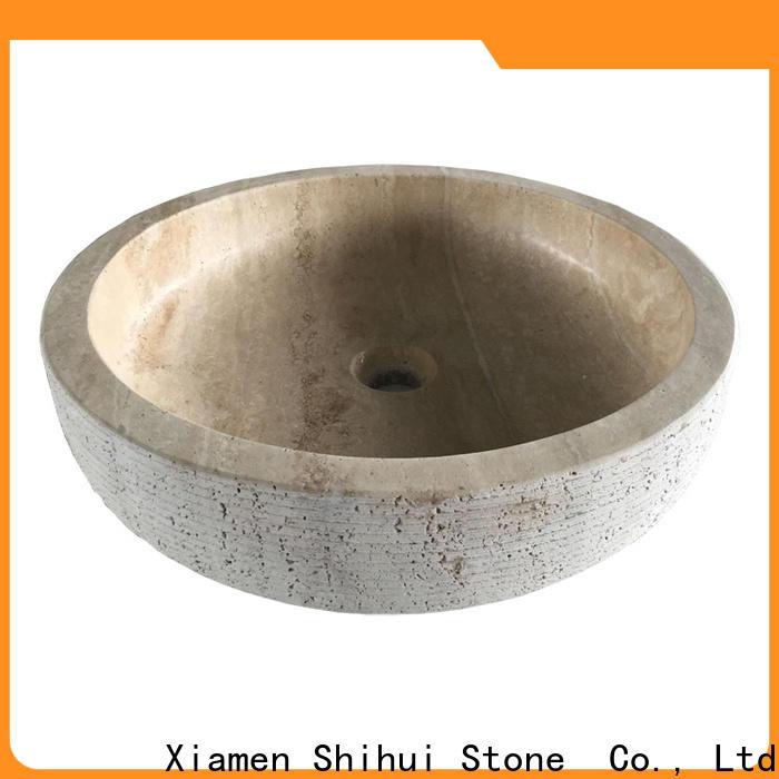 Shihui sturdy natural stone wash basin wholesale for bathroom
