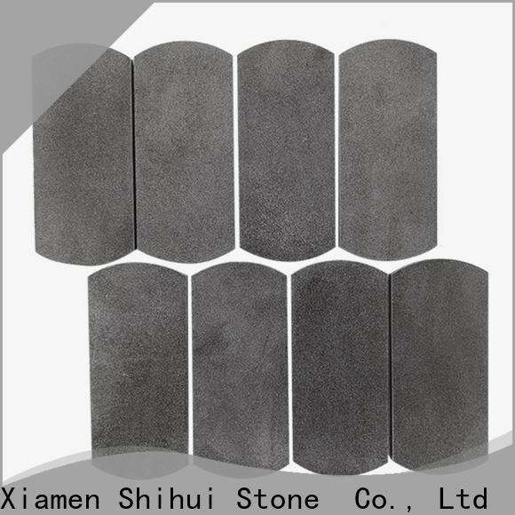 square natural stone mosaic tiles customized for indoor