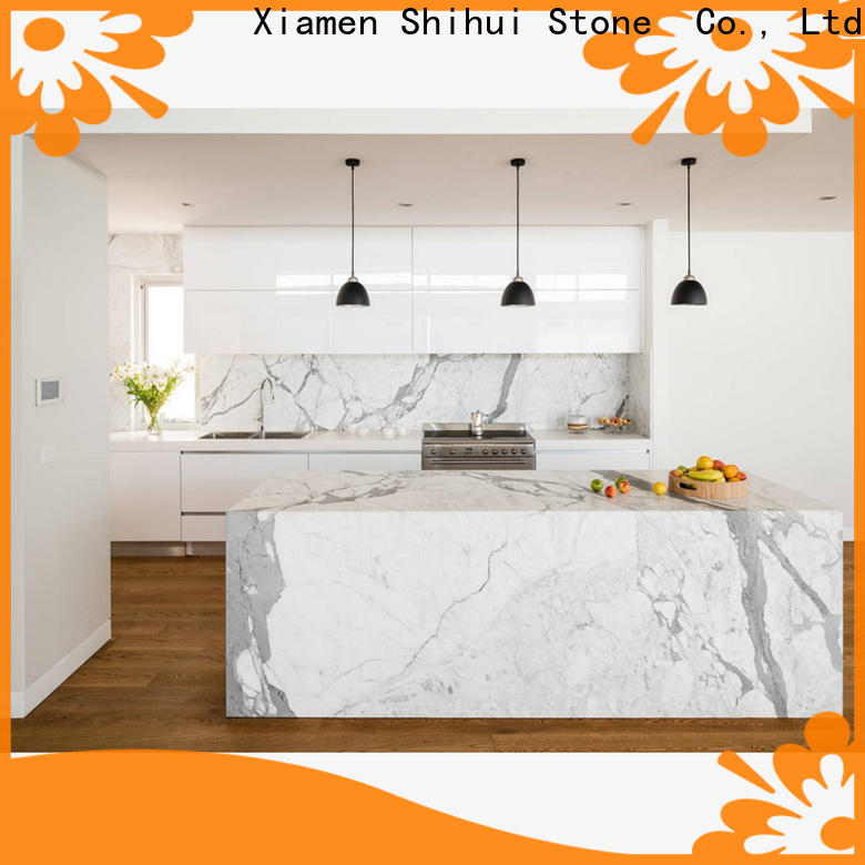 Shihui certificated cultured stone countertop supplier for bar