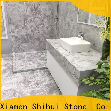 Shihui popular natural marble tile with good price for bathroom