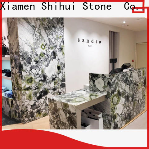 Shihui sturdy manmade stone countertops personalized for hotel