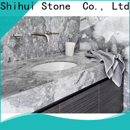 Shihui calacatta solid stone countertops factory price for kitchen