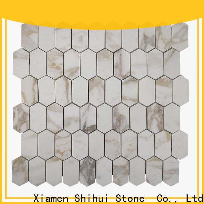 square stone mosaic tile backsplash series for indoor