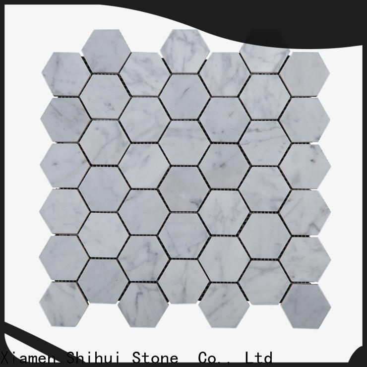 quality stone mosaic tile backsplash series for bathroom