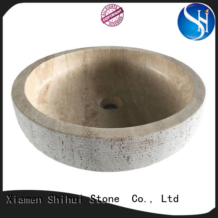 Shihui quality natural stone sink factory price for kitchen