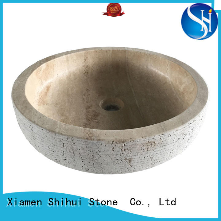 Shihui sturdy natural stone sink basin wholesale for kitchen
