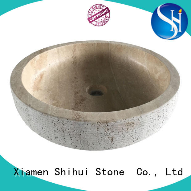 professional natural stone sink basin supplier for hotel