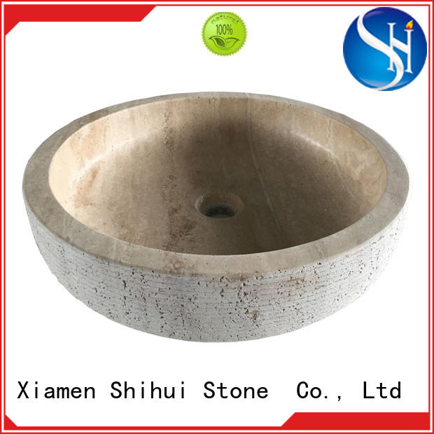 Shihui natural stone sink factory price for bar
