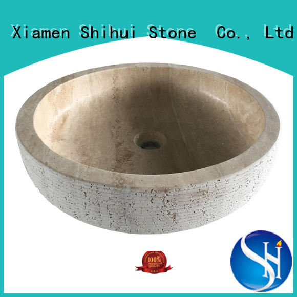 Shihui stone sink factory price for bathroom